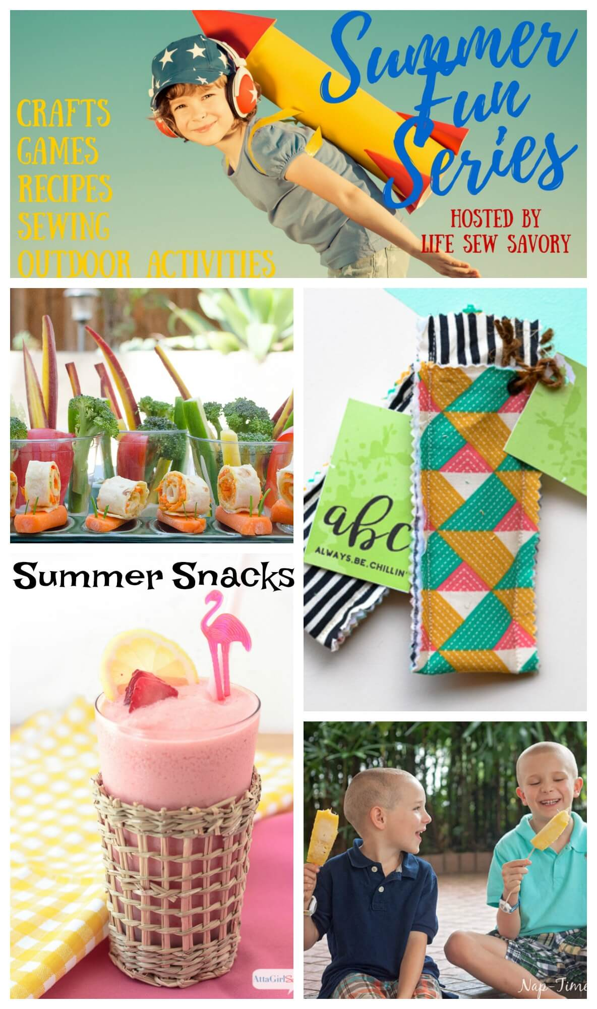 sensational Summer Snacks in the Summer Fun Series from Life Sew Savory