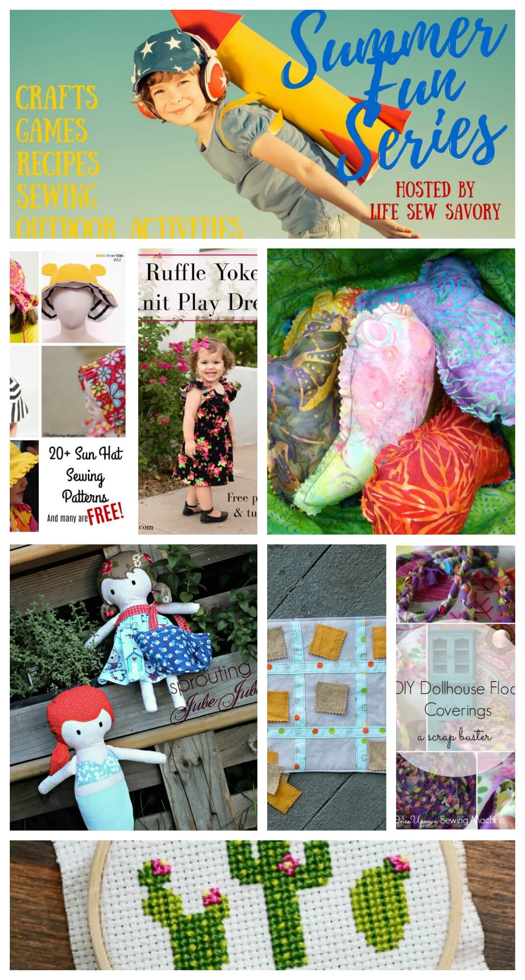 summer sewing projects for kids the Summer Fun series by Life Sew Savory