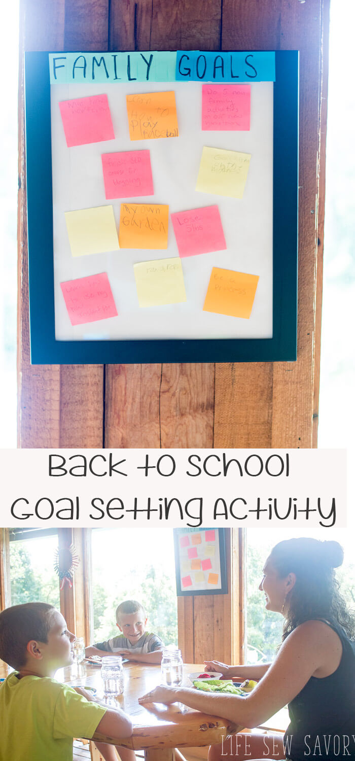 goal setting for kids back to school goal board from Life Sew Savory