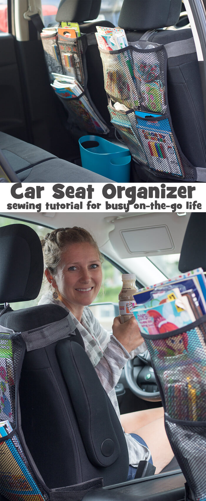 Seat Back Organizer DIY sewing tutorial
