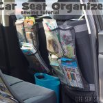Organize your car with a seat back organizer