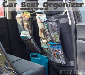 Seat Back Organizer tutorial for a busy On-The-Go Life