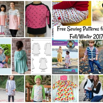 free sewing patterns for kids fall/winter 2017