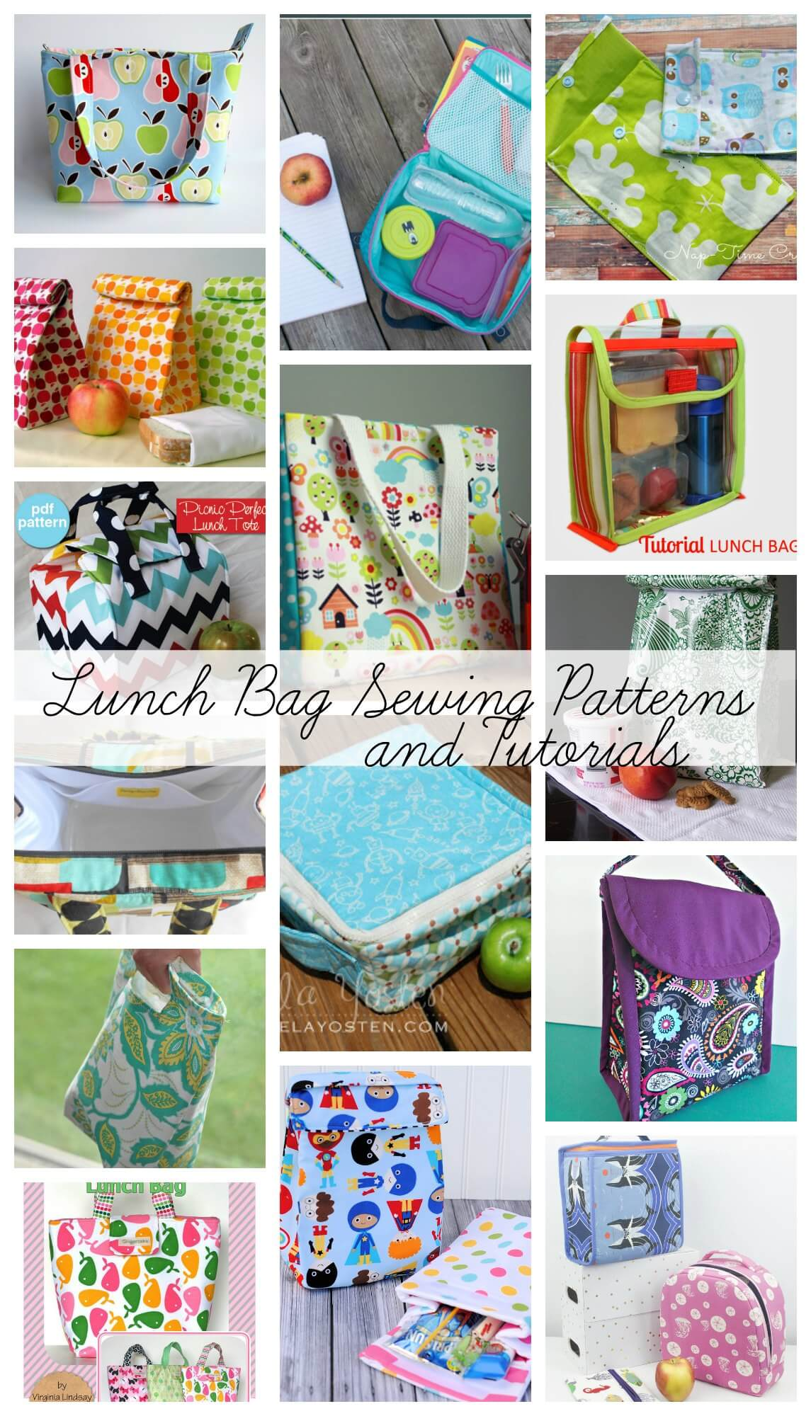 lunch bag sewing patterns and tutorials from Life Sew Savory