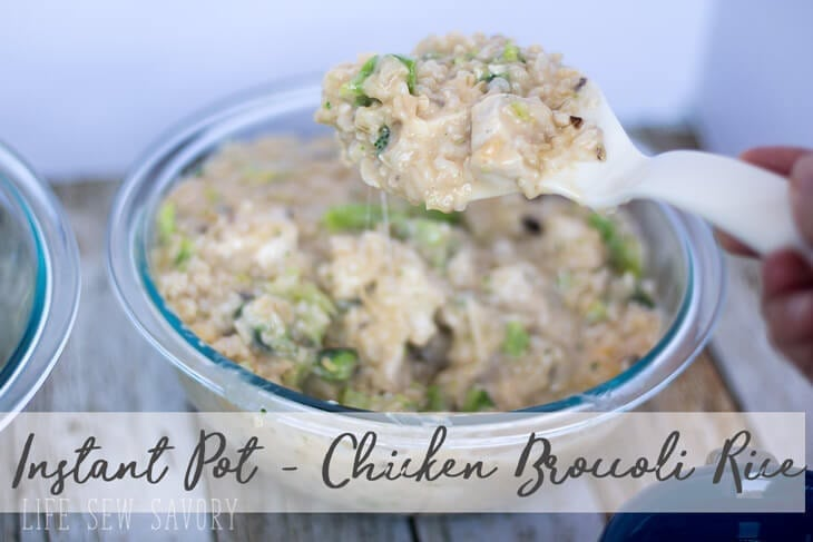 Instant Pot Chicken Rice Broccoli Recipe