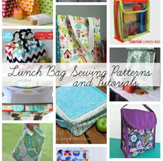 Lunch bag sewing patterns for Back to School