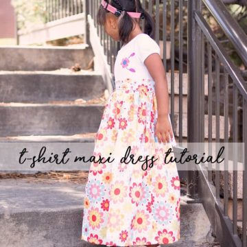 Maxi Dress Sewing Pattern for girls