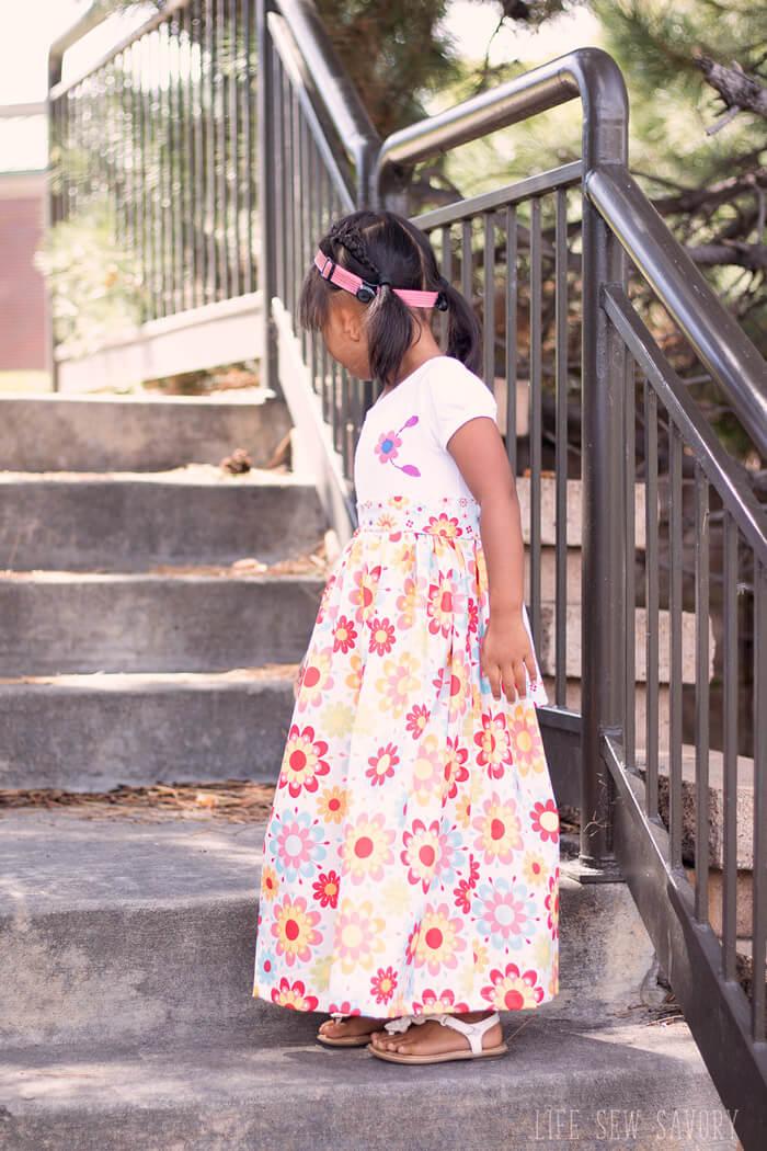 Maxi dress pattern for girls life sew savory for Make a dress shirt
