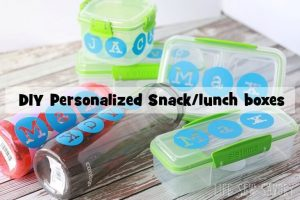 Personalized lunch boxes and snack boxes with the perfect after school snack