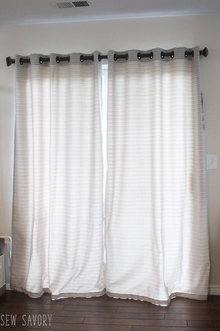 How to sew Curtains with grommets