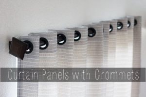 Curtains with Grommets Tutorial with Waverly Fabric