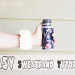 DIY Fitness Sweatbands and Yogurt Drink Breakfast