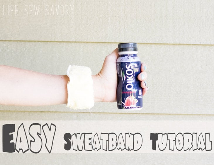 DIY Fitness Sweatbands and Yogurt Drink Breakfast