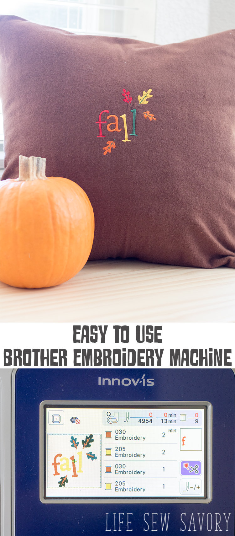 Brother Embroidery Machine - EASY FAST embroidery from Life Sew Savory