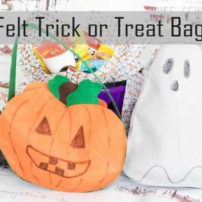 DIY Trick or Treat Bag with Felt