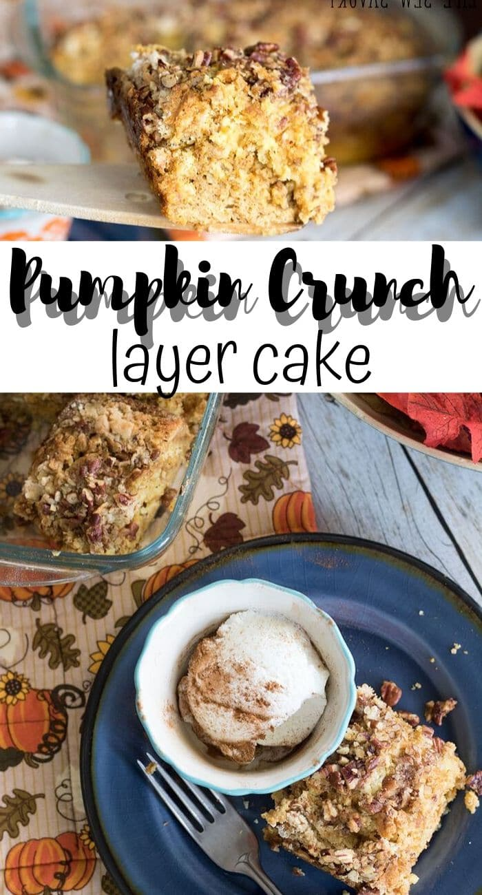 pumpkin crunch cake with yellow cake mix and lots of pumpkin from Life Sew Savory
