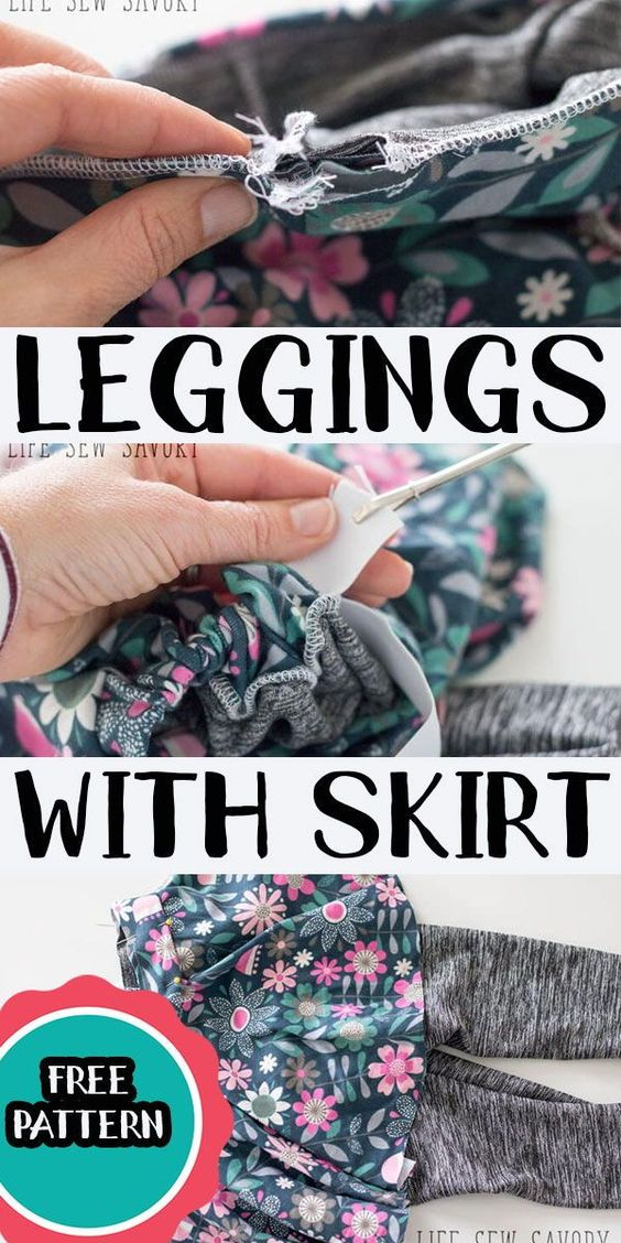 Use my free legging pattern to create a cute skirt with leggings attached. Add a circle skirt or half circle skirt to leggings for an adorable look for playing hard in any season.