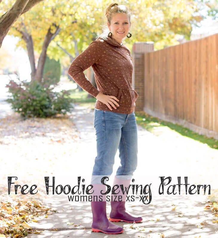 Free Sewing Pattern – Womens Hoodie