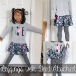 Free Leggings with skirt tutorial