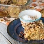 Crunch cake with pumpkin and cake mix