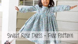 Free Dress Pattern - Girls Sweet Rose Dress
