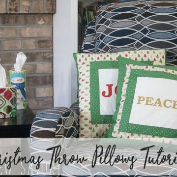 Christmas pillows DIY