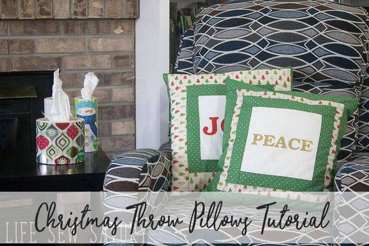 DIY Christmas Decorations – Throw Pillows for Cozy Entertaining