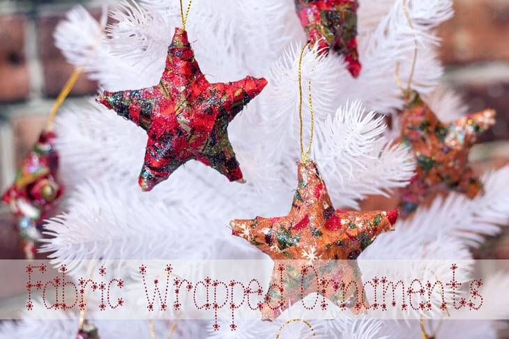 Fabric Christmas Ornaments easy diy tutorial