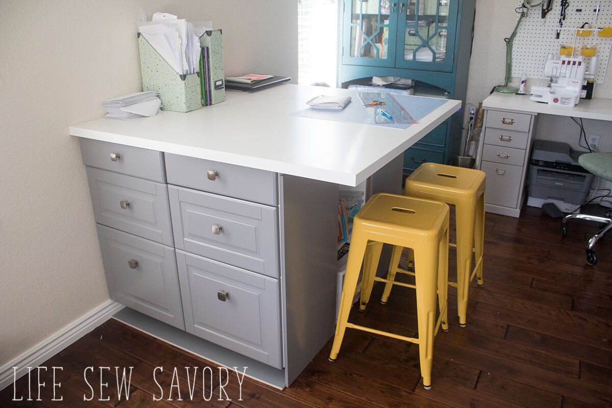 custom built sewing table