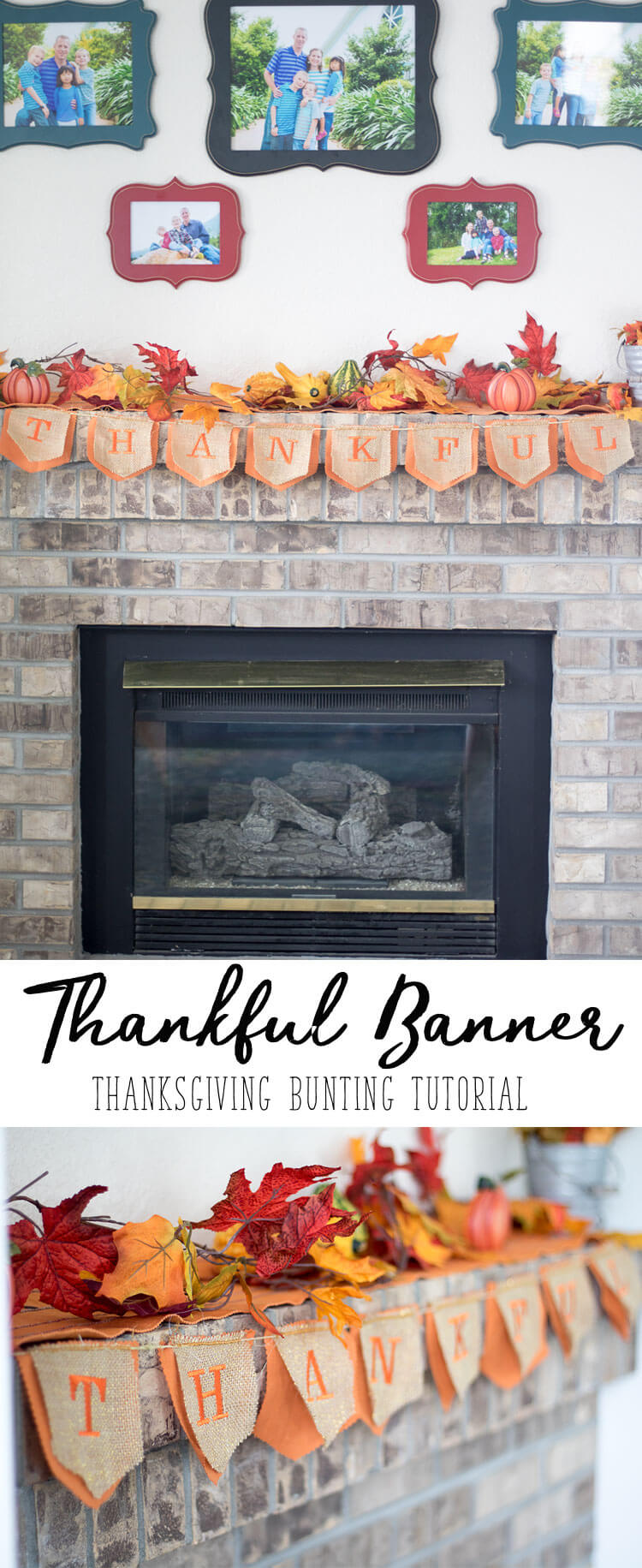 Thankful Banner a Thanksgiving Bunting tutorial from Life-Sew-Savory
