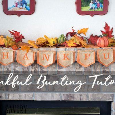 Thankful Banner – Thanksgiving Bunting