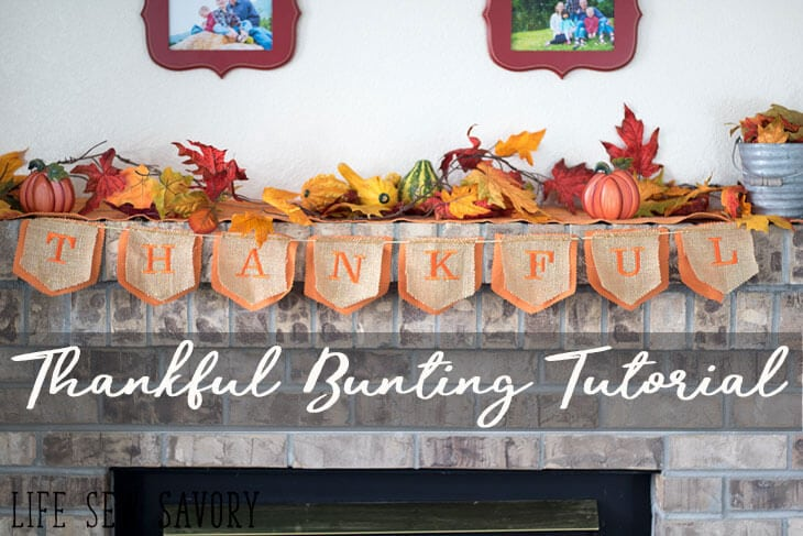 Thankful Banner – Thanksgiving Bunting