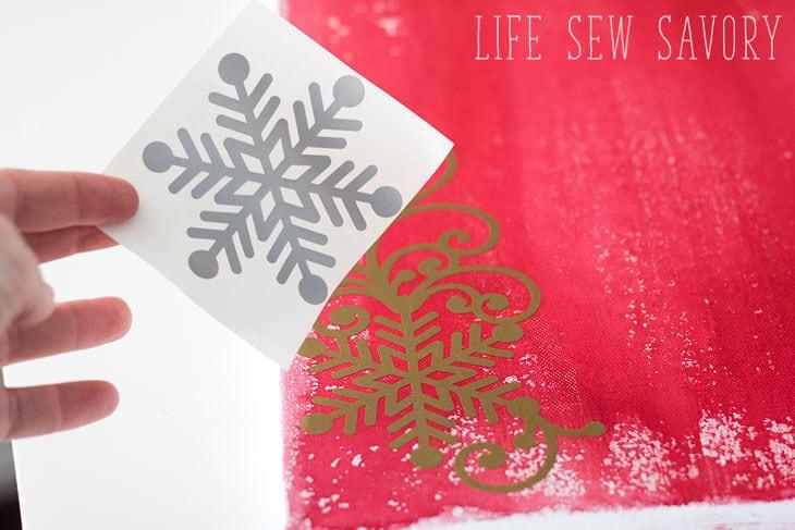 snowflake vinyl cut out