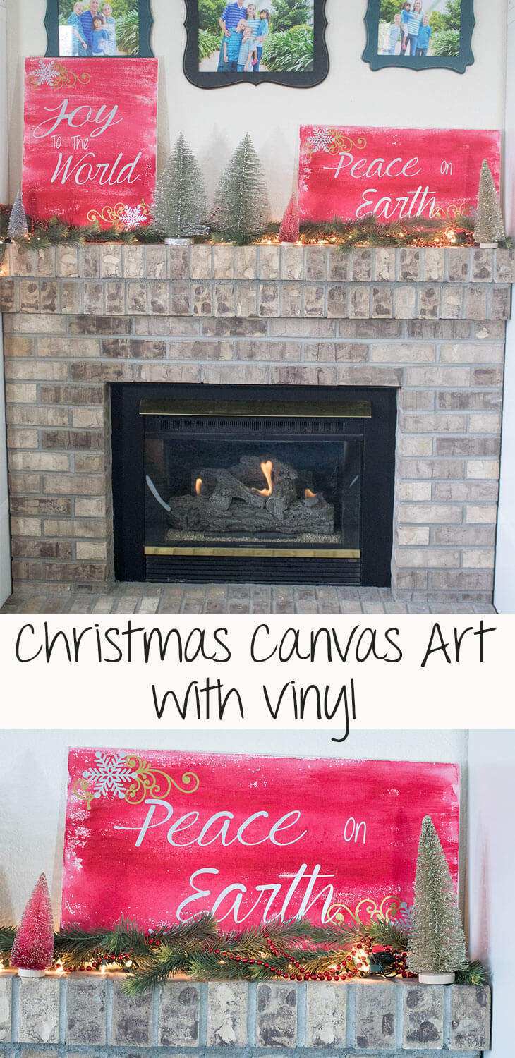 DIY christmas Wall Decor with adhesive vinyl from Life Sew Savory