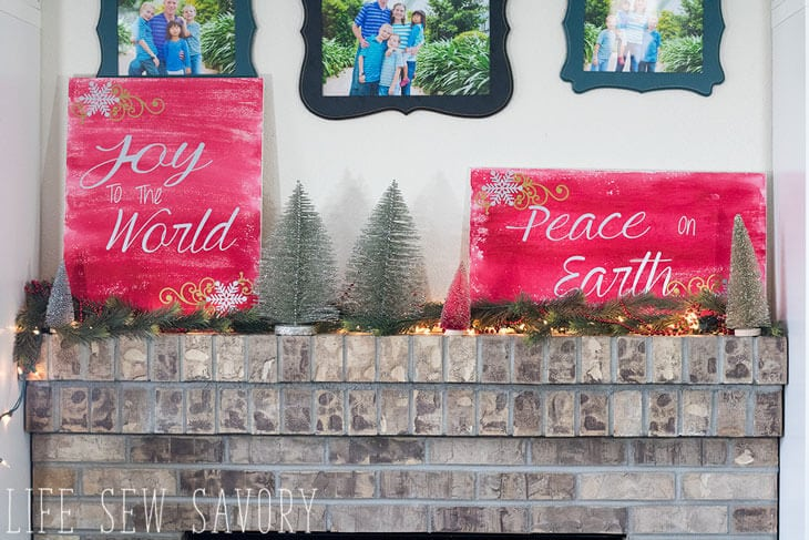 Diy Christmas Wall Decor Life Sew Savory