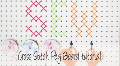 Cross stitch pegboard social