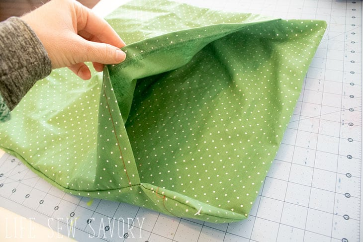 Sew an envelope style pillow