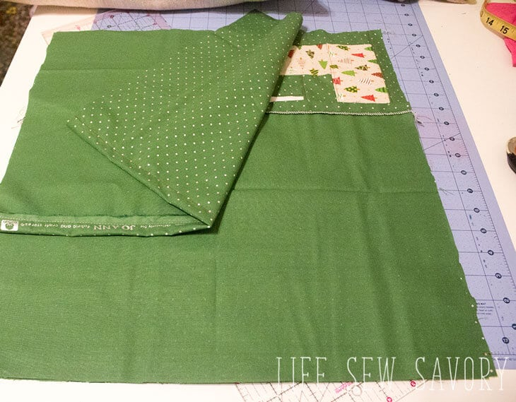 Envelope pillow sewing