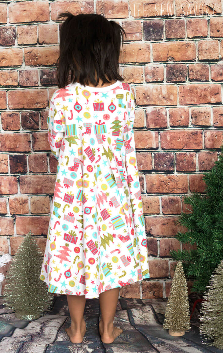 circle skirt dress free sewing pattern