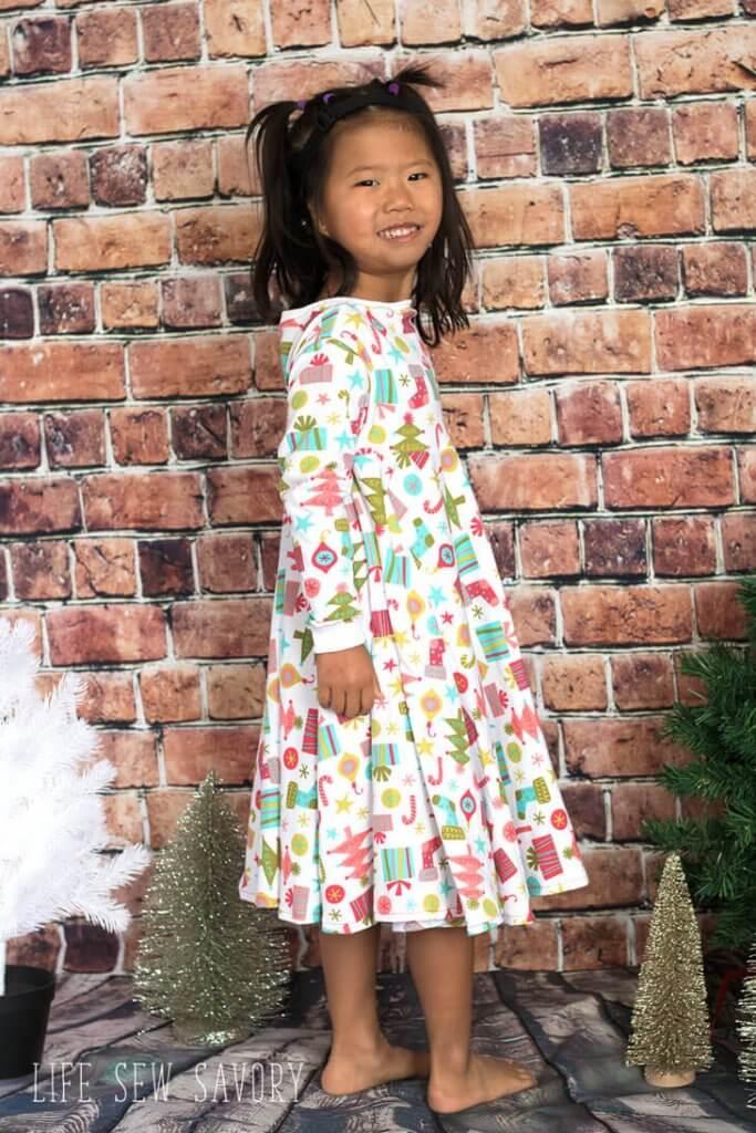 knit circle skirt dress free pattern