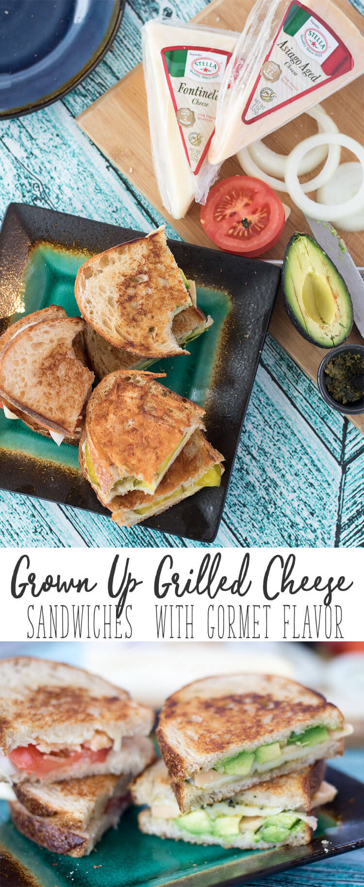 grown up grilled cheese sandwiches with gormet flavor from Life Sew Savory #StellaCheeses #TasteofAuthenticity