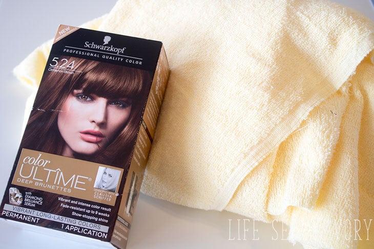 hair towel wrap tutorial and hair dye