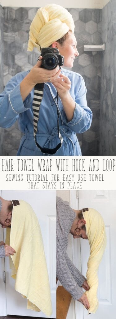 hair towel wrap sewing tutorial from Life Sew Savory #FashionColorExpert AD