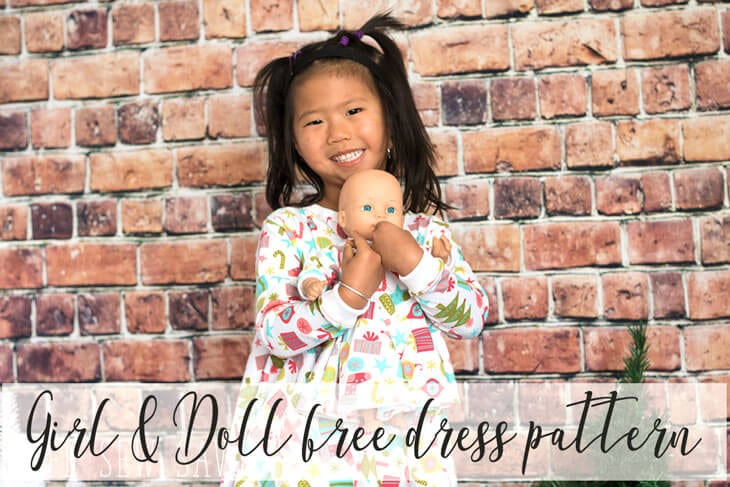 girl and doll matching dresses free pattern