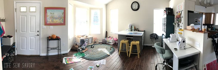 sewing room panorama
