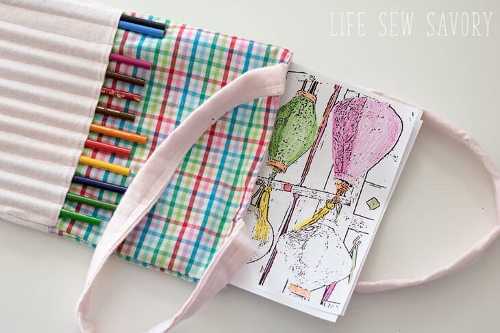 art bag for coloring supplies