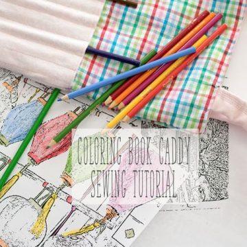 coloring book bag DIY