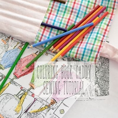 Art Bag Sewing Tutorial and Coloring Pages