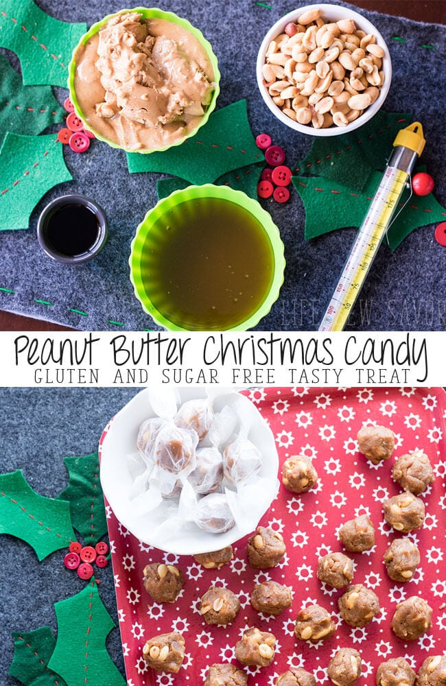 peanut butter candy gluten and sugar free treat for Christmas by Life Sew Savory