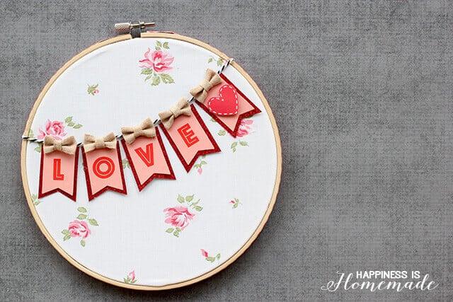 valentines hoop art